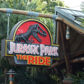 Jurassic Park Ride - you'll get wet so buy the Poncho or bring your own!