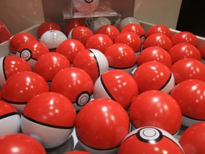 Grab some pokeballs at the Pokemon Center! :)