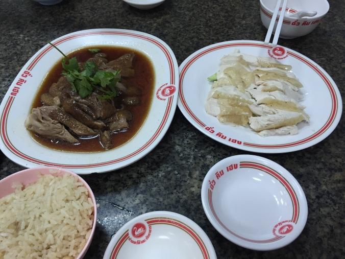Stewed Goose & Hainanese Chicken